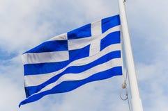 Bandiera greca Fotografia Stock
