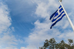 Bandiera greca Fotografia Stock Libera da Diritti
