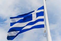 Bandiera greca Immagini Stock Libere da Diritti