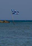Bandiera greca Fotografie Stock Libere da Diritti