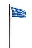 Bandiera greca isolata su fondo bianco fotografia stock libera da diritti