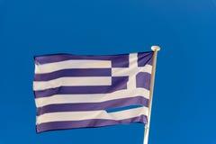 Bandiera greca lacerata Rodi Fotografia Stock Libera da Diritti