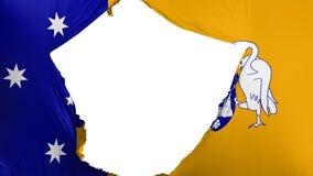 Bandiera incrinata di Canberra royalty illustrazione gratis
