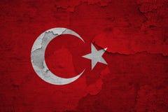 Bandiera incrinata strutturata della Turchia di effetto di parete illustrazione vettoriale