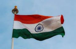 Bandiera indiana Fotografie Stock Libere da Diritti