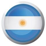 Bandiera isolata dell'Argentina Immagini Stock Libere da Diritti