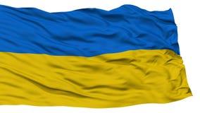 Bandiera isolata dell'Ucraina Fotografia Stock Libera da Diritti