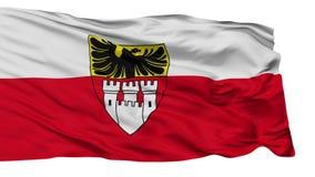 Bandiera isolata della città di Duisburg, Germania illustrazione di stock