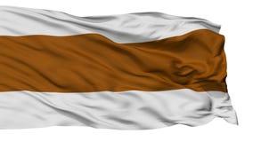 Bandiera isolata della città di EL Carmen de Viboral, Colombia illustrazione di stock