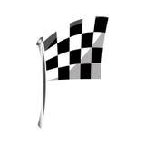 Bandiera isolata della corsa illustrazione vettoriale