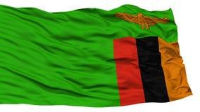 Bandiera isolata dello Zambia fotografia stock
