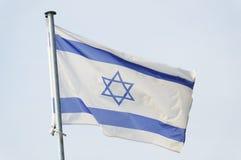 Bandiera israeliana Immagine Stock