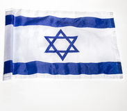 Bandiera israeliana Immagine Stock