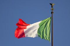 Bandiera italiana Immagine Stock
