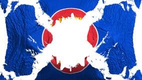 Bandiera lacerata di ASEAN che fluttua nel vento royalty illustrazione gratis