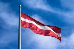 Bandiera lettone Fotografia Stock