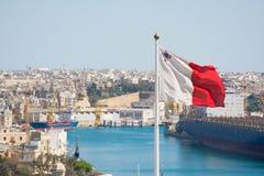 Bandiera maltese Immagine Stock Libera da Diritti