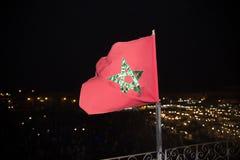 Bandiera marocchina Immagine Stock