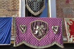 Bandiera medioevale Fotografie Stock
