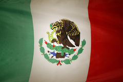 Bandiera messicana Fotografia Stock