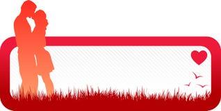Bandiera minima 2 di amore Fotografia Stock