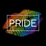 Bandiera moderna di orgoglio di LGBT nel formato di vettore illustrazione di stock