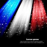 Bandiera nazionale americana brillante che ondeggia per il quarto di luglio Fotografie Stock Libere da Diritti