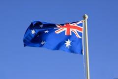 Bandiera nazionale australiana Immagini Stock