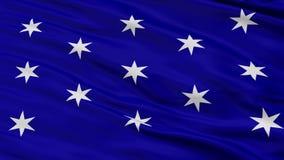 Bandiera nazionale d'ondeggiamento del primo piano di Washington City, New York illustrazione di stock