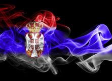 Bandiera nazionale del fumo della Serbia Immagine Stock Libera da Diritti