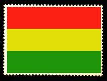 Bandiera nazionale dell'illustrazione della Bolivia Colori e proporzione ufficiali di bandiera della Bolivia Vecchio francobollo  illustrazione vettoriale