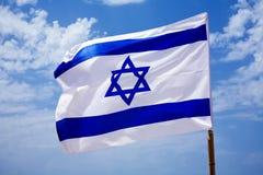 Bandiera nazionale dell'Israele all'aperto Immagini Stock