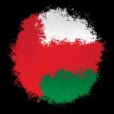 Bandiera nazionale dell'Oman Fotografie Stock Libere da Diritti