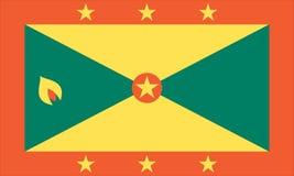 Bandiera nazionale della Granada Fotografia Stock