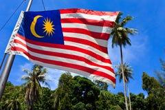 Bandiera nazionale della Malesia Fotografie Stock Libere da Diritti