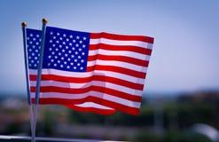 Bandiera nazionale della mano di U.S.A. Immagini Stock Libere da Diritti