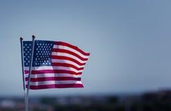 Bandiera nazionale della mano di U.S.A. Fotografie Stock Libere da Diritti