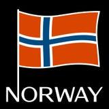 Bandiera nazionale della Norvegia Illustrazione di vettore Immagini Stock