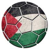 Bandiera nazionale della Palestina del pallone da calcio Palla di calcio della Palestina fotografie stock