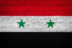 Bandiera nazionale della Siria su un mattone royalty illustrazione gratis
