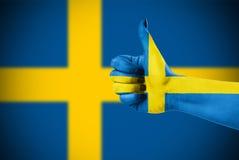 Bandiera nazionale della Svezia Immagini Stock Libere da Diritti