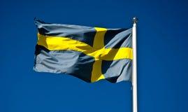 Bandiera nazionale della Svezia Immagini Stock