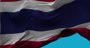 Bandiera nazionale della Tailandia che ondeggia nel movimento lento del vento illustrazione di stock