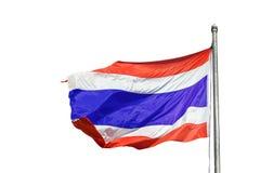 Bandiera nazionale della Tailandia su un'asta della bandiera, fotografie stock libere da diritti