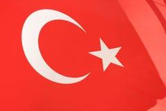 Bandiera nazionale della Turchia Fotografie Stock Libere da Diritti