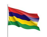 Bandiera nazionale di vettore delle Mauritius Immagine Stock Libera da Diritti