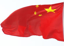 Bandiera nazionale di volo della Cina Fotografia Stock
