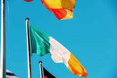 Bandiera nazionale italiana al Parlamento Europeo Fotografie Stock Libere da Diritti