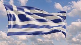 bandiera nazionale 4K di adulare della Grecia