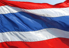 Bandiera nazionale tailandese Fotografia Stock Libera da Diritti